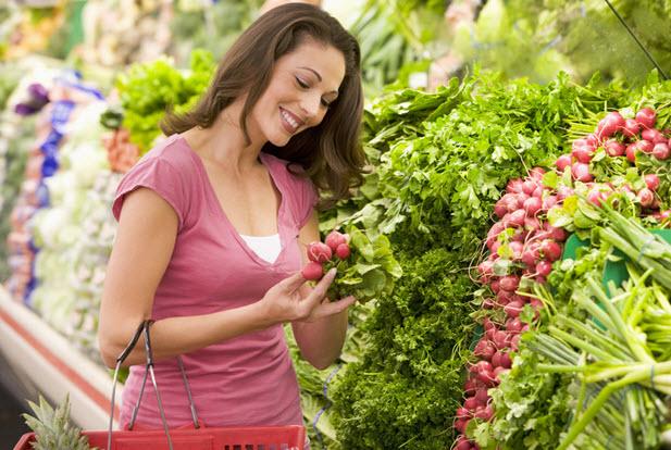 Низкокалорийные овощи и фрукты