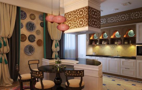 Восточный дизайн интерьера квартиры