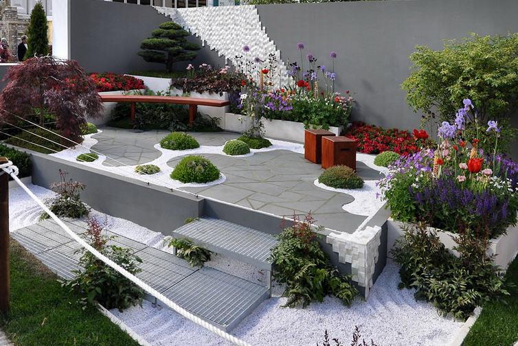 Сад в стиле «модерн»