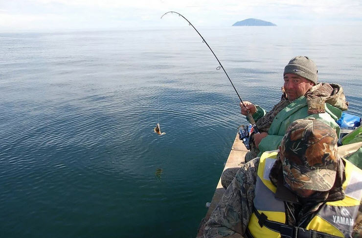 Ловля камбалы в Японском море
