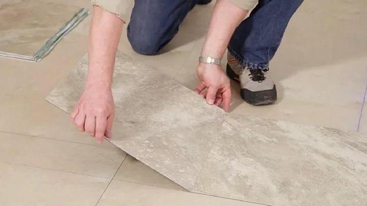 Специфика обустройства пола в ванной из виниловой ПВХ - плитки