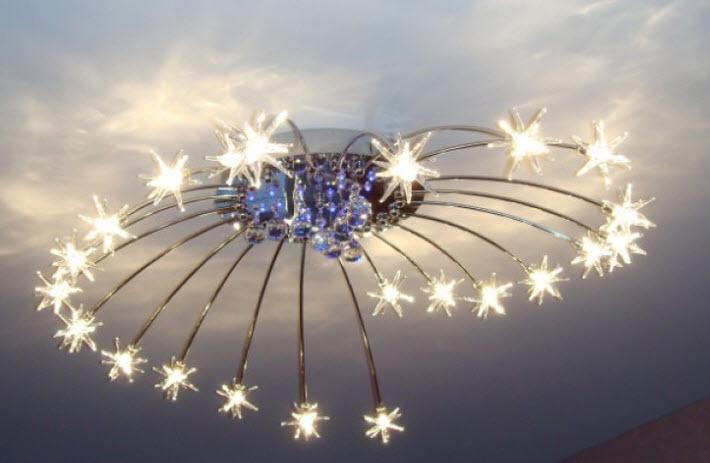 Большие современные люстры: виды и расположение