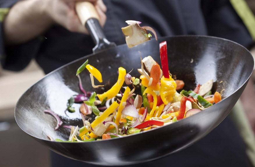 Сковорода вок или китайская кулинарная техника