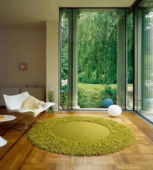 Использование ковров при оформлении помещений