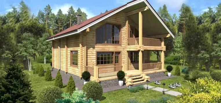 Строительство домов из профилированного бруса от компании