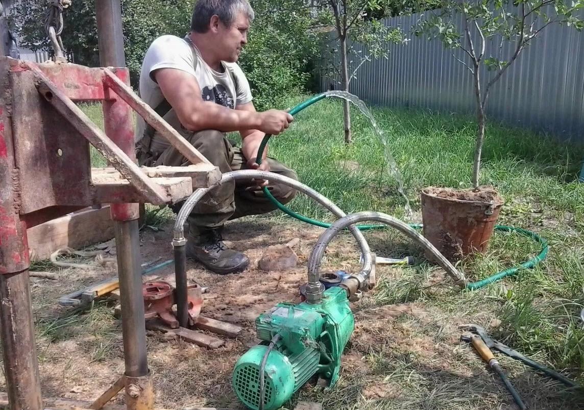 полив сада из скважины