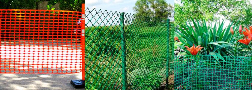 Ограда для небольшого палисадника из сетки