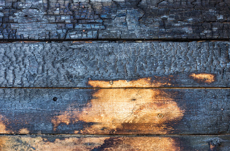 Обжиг древесины