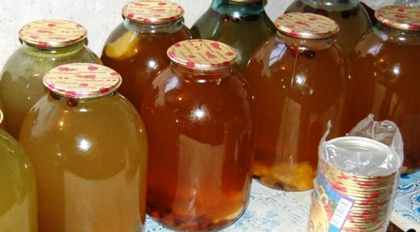 Закатка березового сока с шиповником