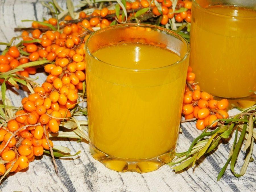 Березовый сок с медом и облепихой