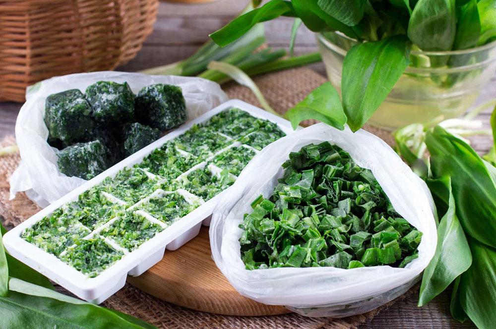 Методы заморозки зелени  на зиму